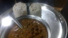 Local cuisin - puttu & chana curry